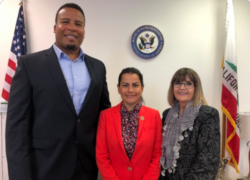 Eric Allen and Vice President Vicki Remis meets with Congresswoman Barragan